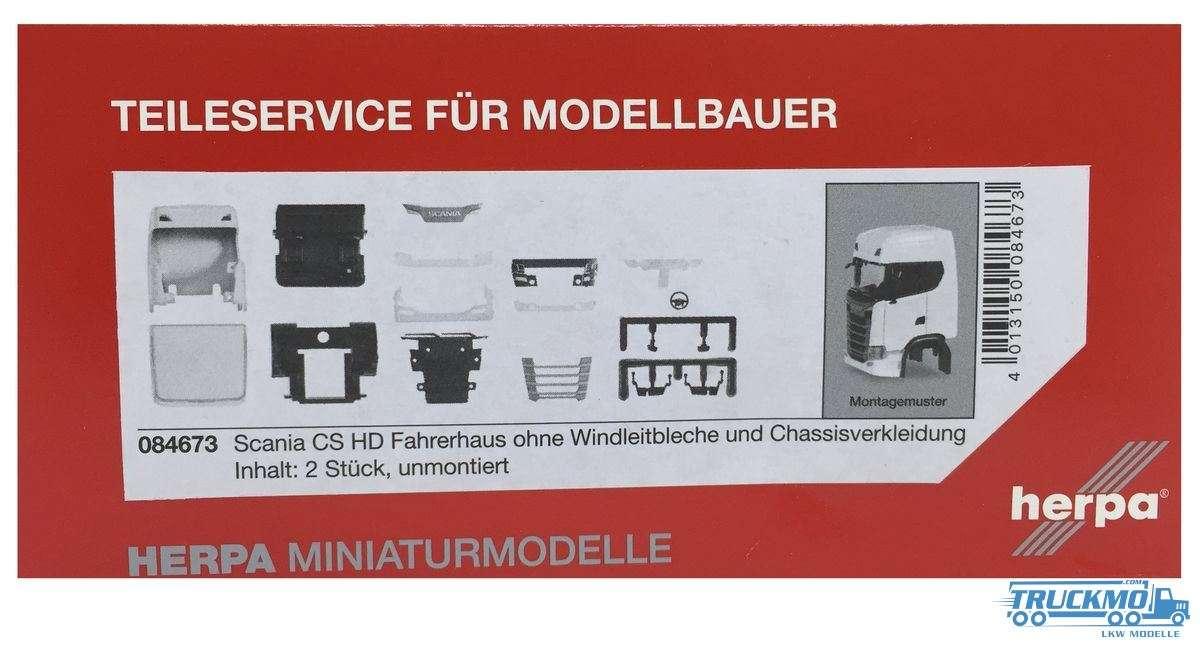 Herpa Fahrerhaus Scania CS HD ohne Windleitblech und Chassisverkleidung (Inhalt: 2 Stück) 084673