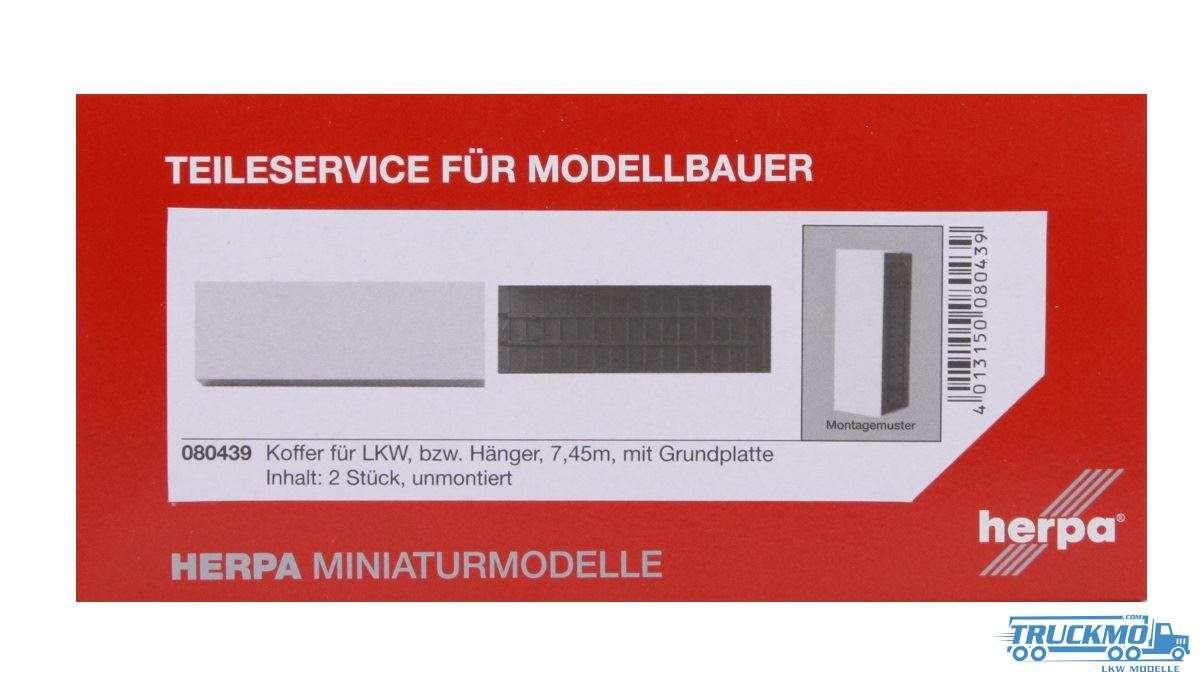 Herpa Koffer mit Grundplatte (7,45m) Inhalt: 2 Stück 080439