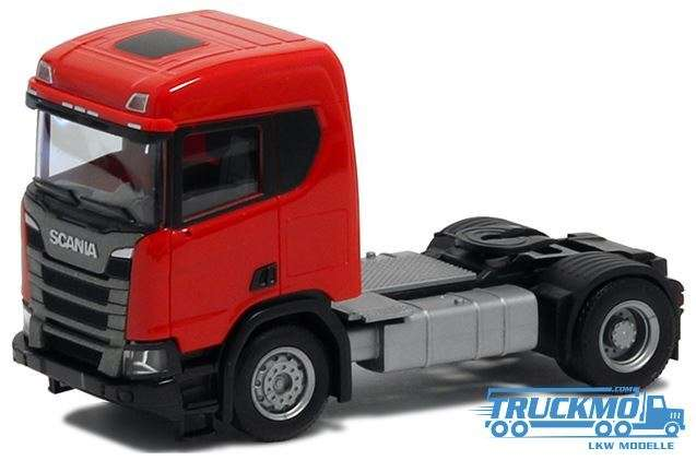 Herpa Scania CR20 ND 2 Achs rot Bauversion 580437