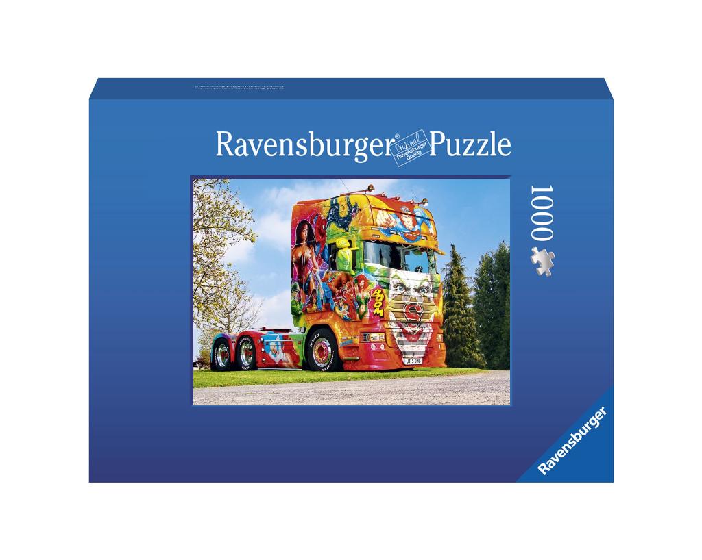 Templeton Super Heros Scania Showtruck Ravensburger Foto-Puzzle 1000 Teile - Original Qualität
