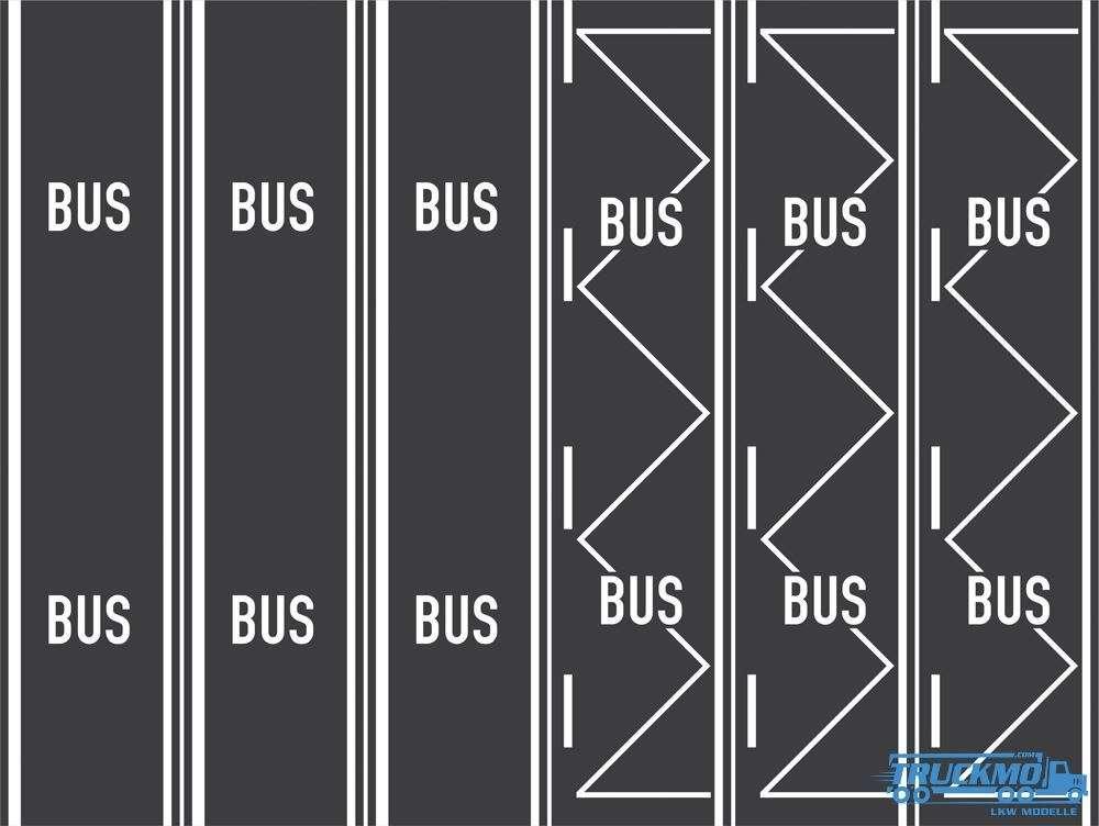 Rietze Teerbelag Busspur Bushaltestelle 3 Stück 70706