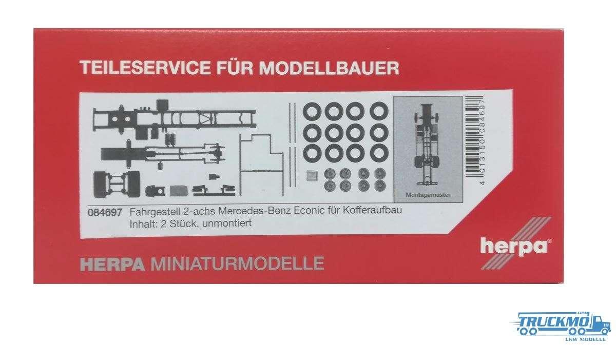 Herpa Fahrgestell Mercedes-Benz Econic für Kofferaufbau (Inhalt: 2 Stück) 084697