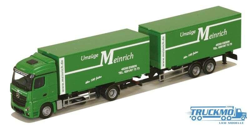 AWM Meinrich Mercedes Benz Actros Streamspace Wechselkoffer-Hängerzug 75100