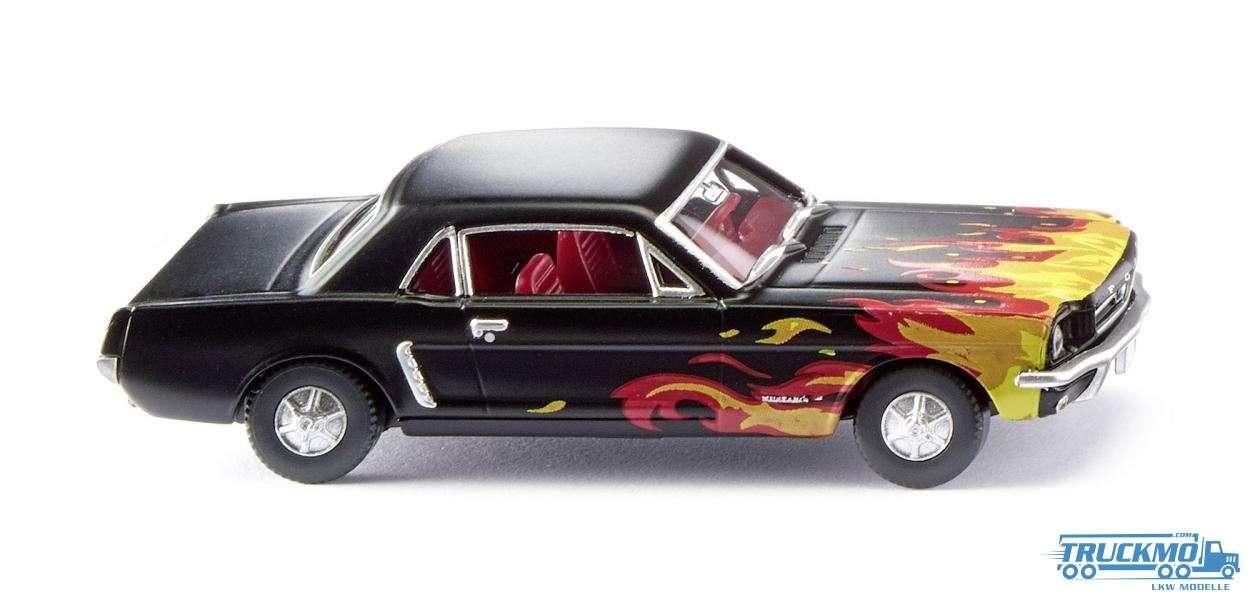 Wiking Ford Mustang Coupé schwarz Flammendekor 020503