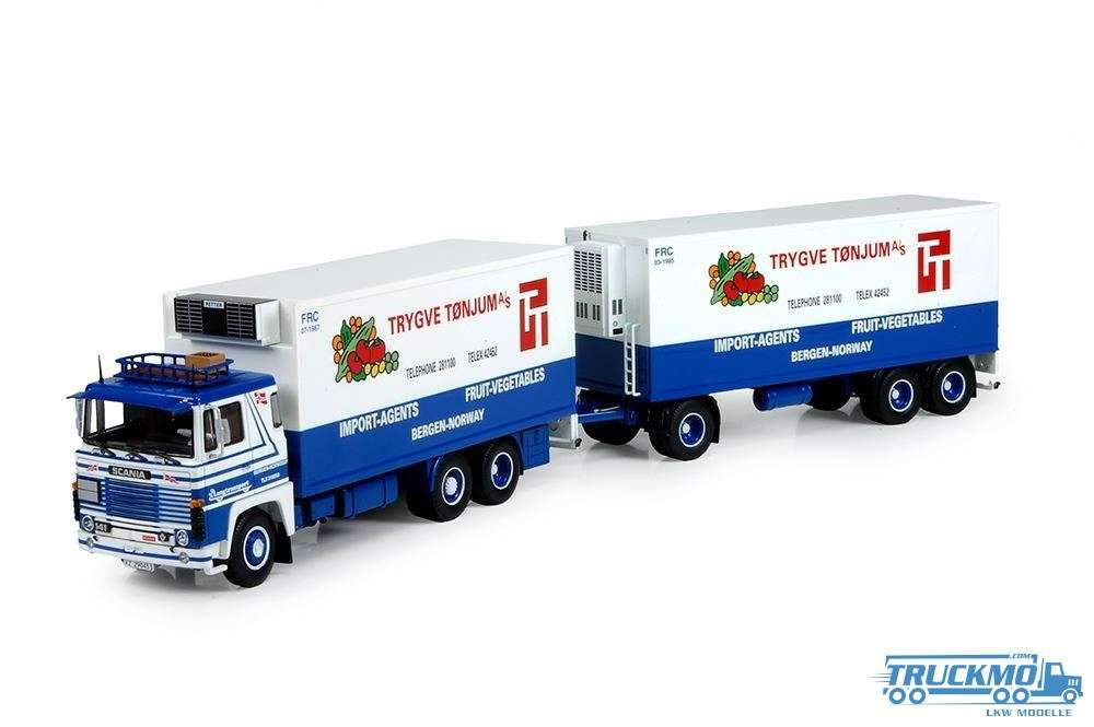 Tekno Langtransport Scania 141 Motorwagen mit 3 Achs Anhänger 73060