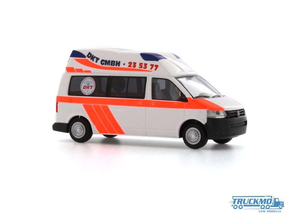 Rietze DKT Rettungswagen Hamburg Volkswagen Ambulanz Mobile Hornis Silver 10 53604