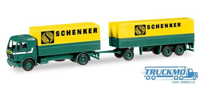 Herpa Schenker Mercedes-Benz canvas cover trailer 308687 | TRUCKMO ...