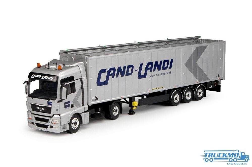 Tekno Cand-Landi LKW Modell MAN TGX XXL mit Cargo Floorauflieger