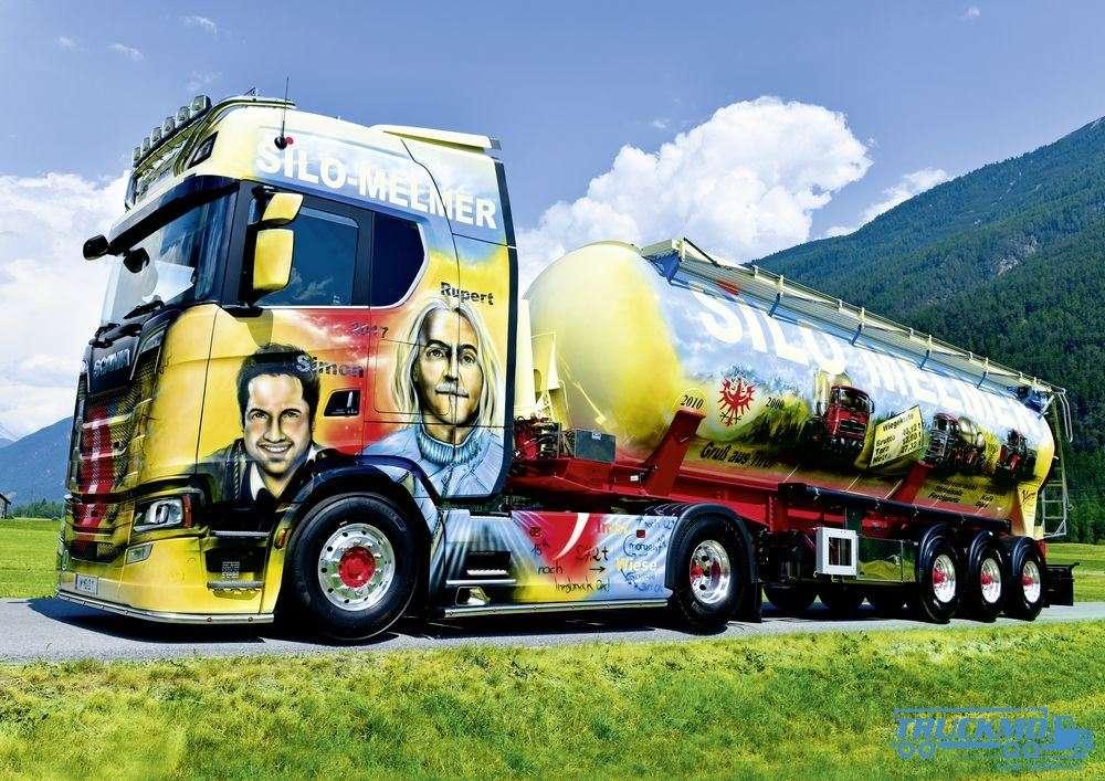 Silo-Melmer Transporte Foto-Leinwand 90x60cm mit Keilrahmen