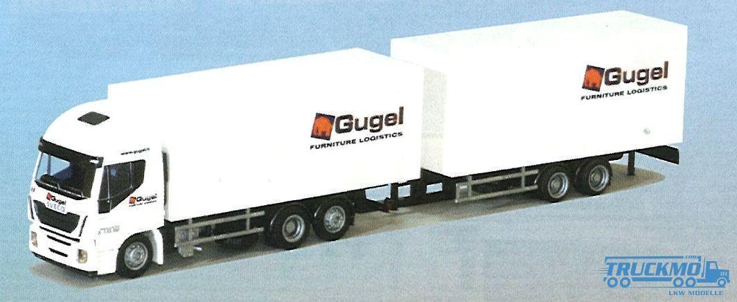 AWM Gugel Iveco HiWay Jumbo Tandem-Kofferhängerzug LKW-Modelle
