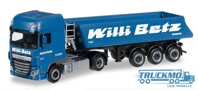 Herpa Willi Betz LKW Modell DAF XF SSC Euro 6 Baukipper-Sattelzug 306119