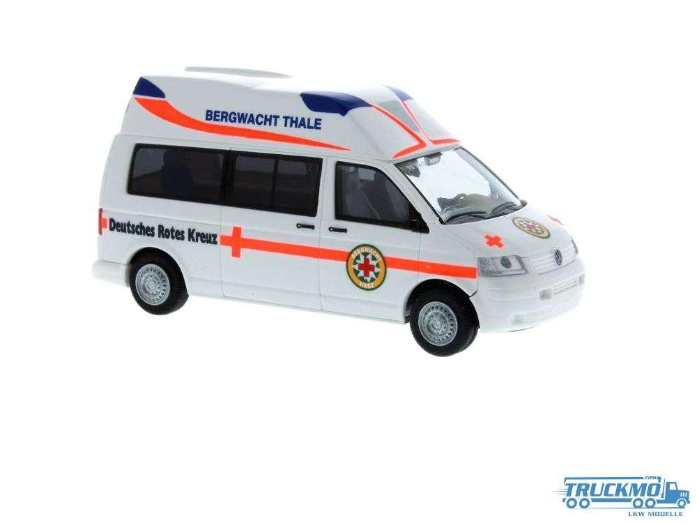 Rietze Bergwacht Thale/Harz Ambulanz Mobile Hornbis Silver Volkswagen 51901