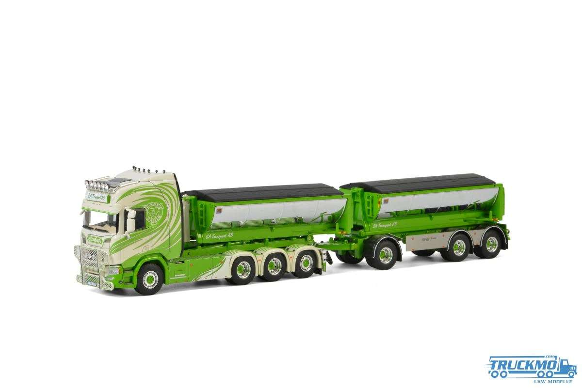 WSI JA Transport Scania R Highline CR20H hooklift system Combi + hooklift Container Asphalt 01-2828