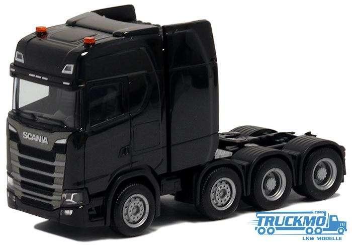Herpa Scania CS 20 HD Schwerlastzugmaschine 4achs schwarz 580622