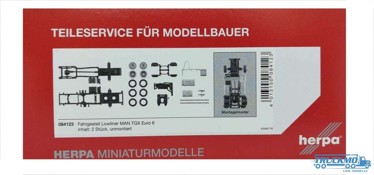 Herpa Zugmaschinen-Fahrgestell MAN TGX Euro 6 Lowliner Inhalt: 2 Stück 084123
