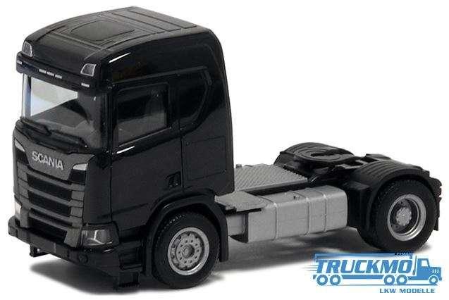 Herpa Scania CR20 ND 2 Achs schwarz Bauversion 580438