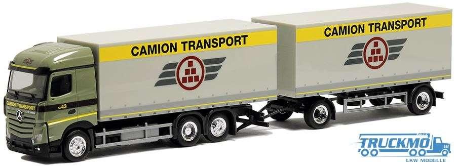 Herpa Camoin Transport Mercedes Benz Actros Streamspace 2.5 Planen-Hängerzug 938075