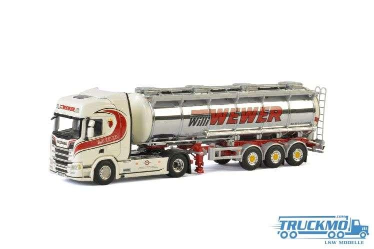 WSI Willi Wewer Scania R Highline CR20H Tankauflieger 01-2398
