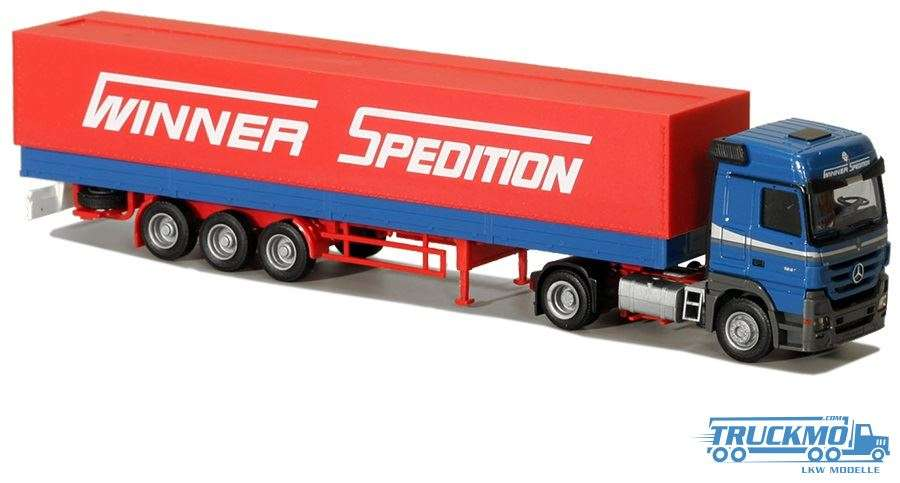 AWM Winner Spedition Mercedes Benz Actros 2008 Europlanenauflieger 75820
