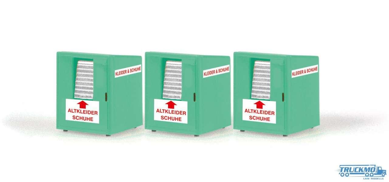 Rietze Altkleidercontainer 3 Stück 70259