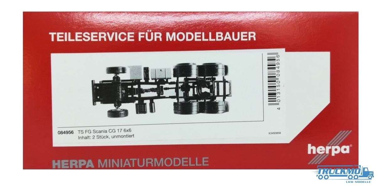 Herpa Fahrgestell Scania 6x6 Zugmaschine 084956