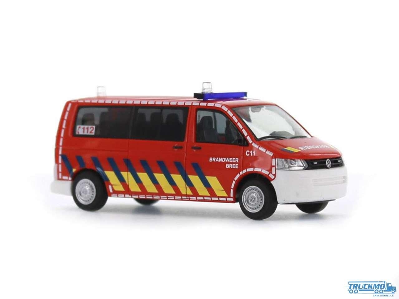 Rietze Brandweer Bree Volkswagen VW T5 GP Bus LR FD 52625