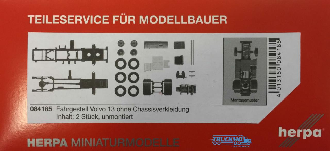 Herpa Volvo FH Fahrgestell ohne Chassisverkleidung Inhalt: 2 Stück LKW-Modelle