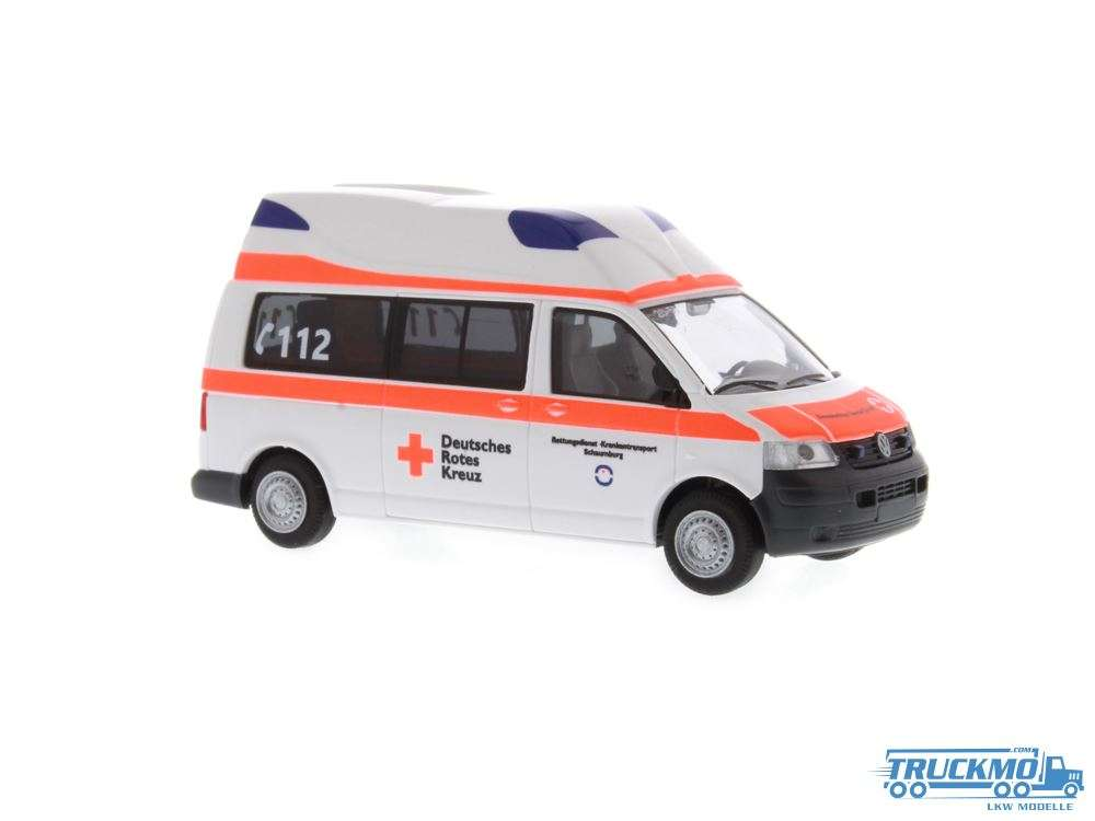 Rietze DRK Schaumburg Volkswagen Ambulanz Mobile Hornis Silver 51892