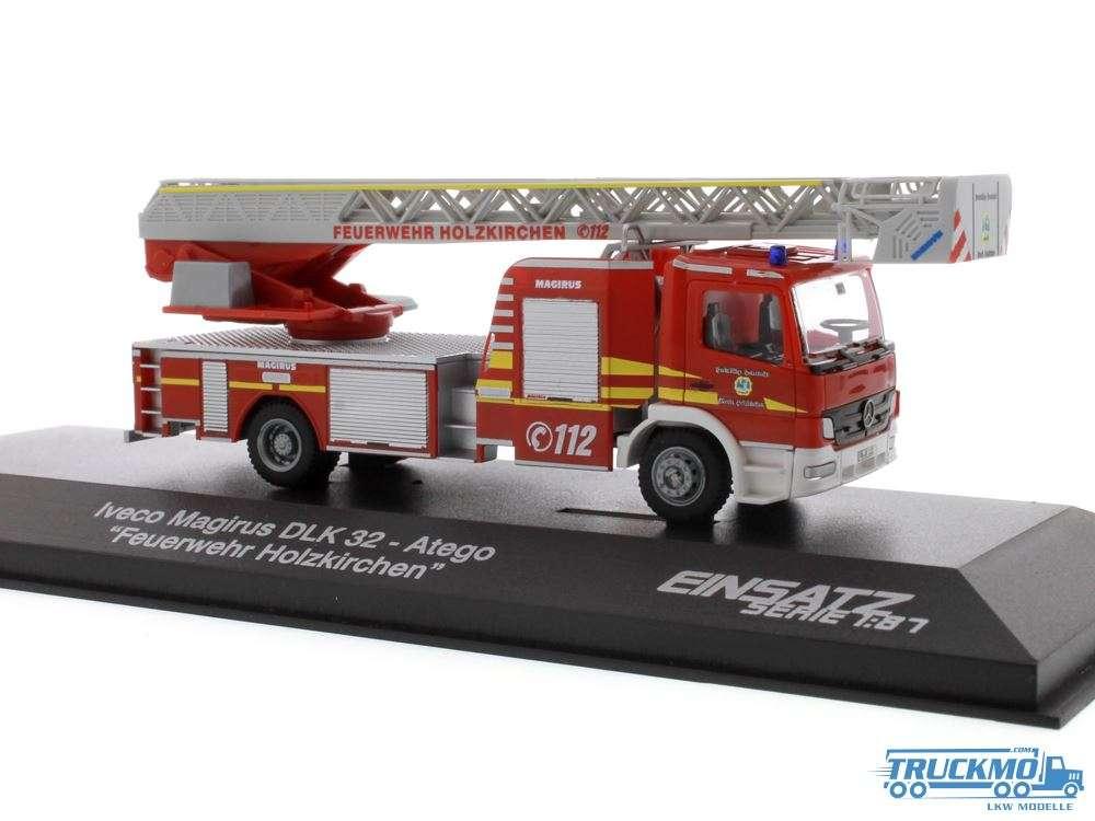 Rietze Feuerwehr Holzkirchen Mercedes Benz Atego Magirus DLK 32 68561