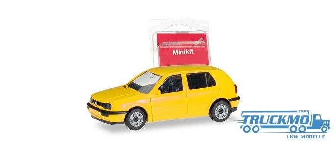 Herpa MiniKit: VW Golf III 4-türig gelb 012355-007
