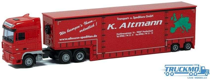 AWM Altmann DAF XF 105 Super Space Cab Tiefbett-Sattelzug 7892.41