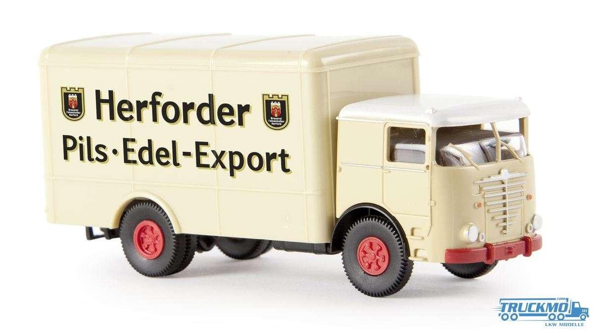 Brekina Herforder Pils Büssing Commodore Koffer 79111