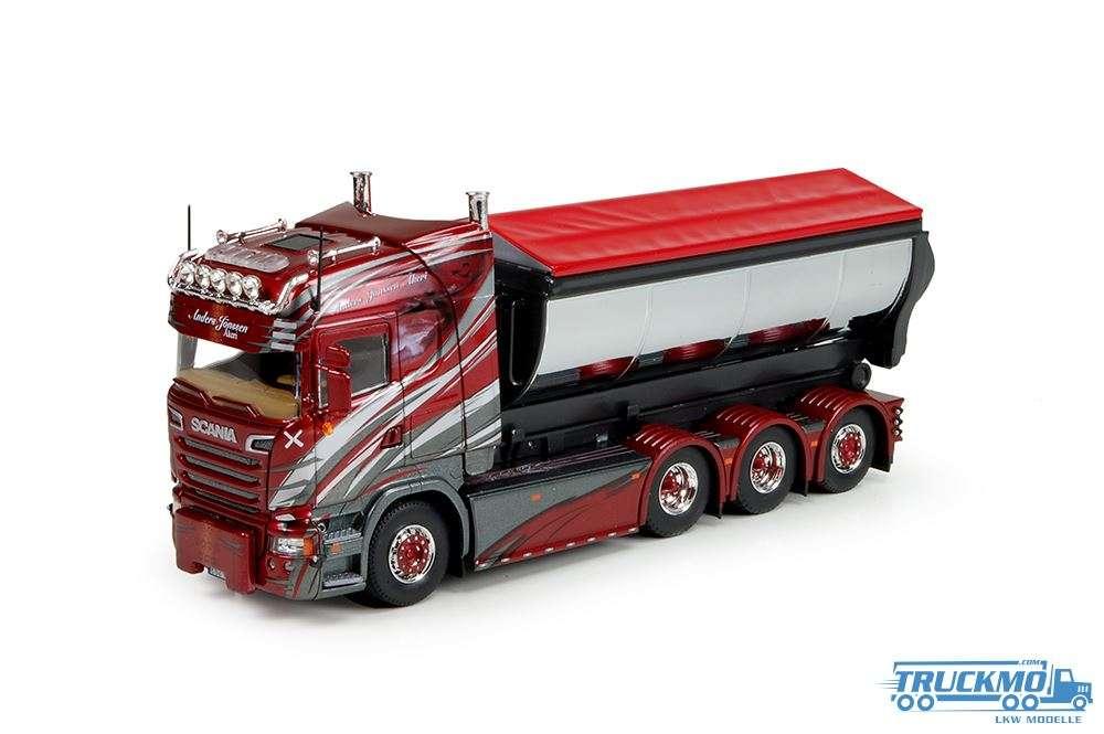 Tekno Anders Jonsson LKW Modell Scania R-Streamline Highline mit Hakenarm Container 69395