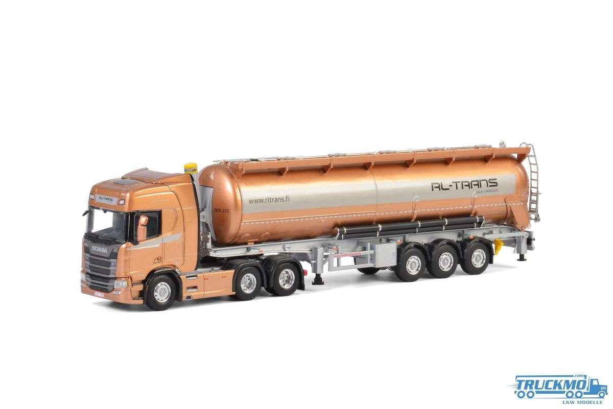 WSI RL Trans Scania R Highline CR20H Siloauflieger (Modell Ausführung 6x4) 01-2577
