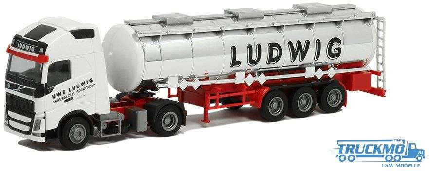 AWM Ludwig Volvo FH12 Globetrotter XL Tankauflieger 75274