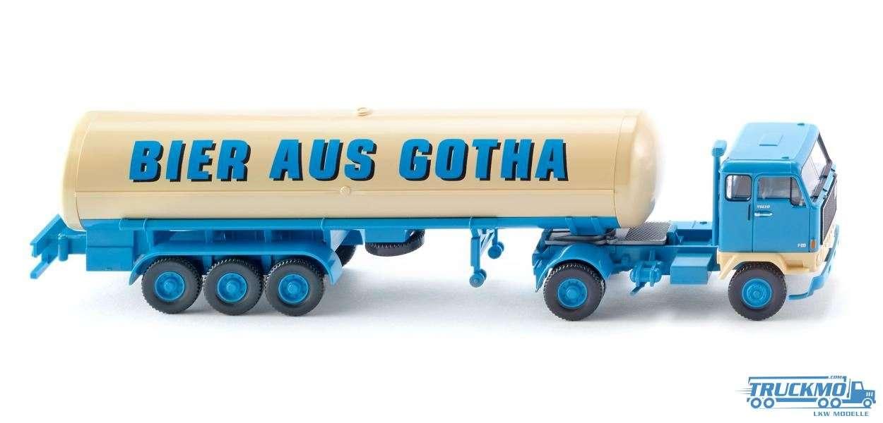 Wiking Bier aus Gotha Volvo F89 Tanksattelzug 078603
