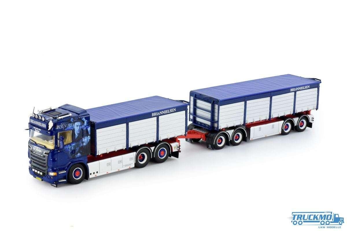 Tekno Brian Nielsen Scania Highline Motorwagen mit Anhänger und Containers (Resin) 70884