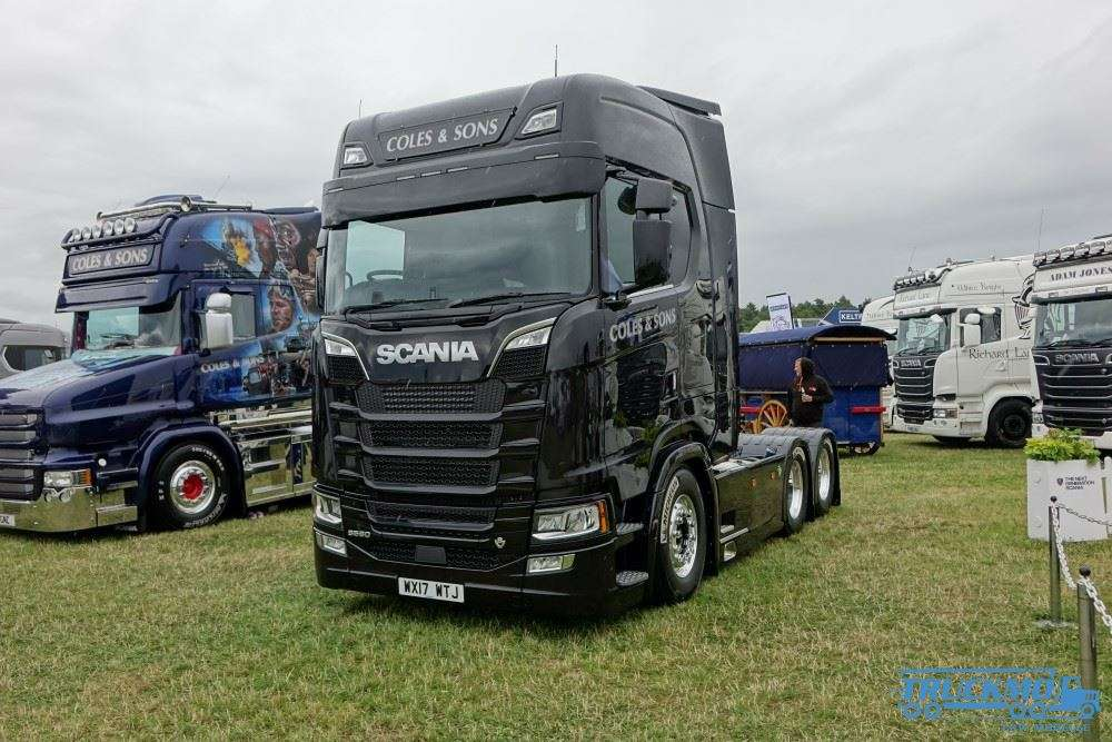 tekno coles sons scania s 580 planenauflieger lkw modell. Black Bedroom Furniture Sets. Home Design Ideas
