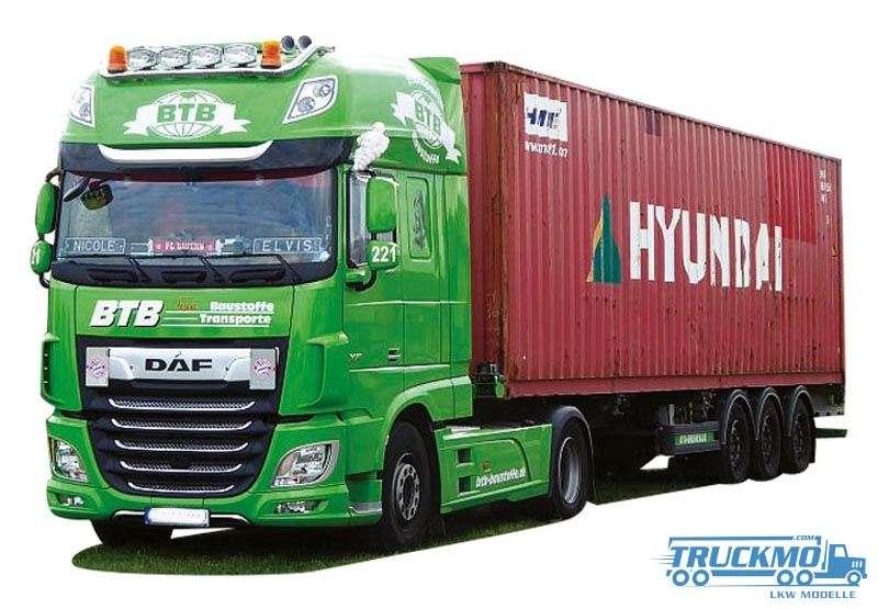 AWM BTB / Hyundai DAF XF 106 Super Space Cab Containerauflieger 9397.41