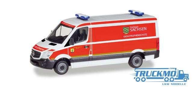 Herpa Katastrophenschutz Freistaat SachsenMercedes-Benz Sprinter box 093354
