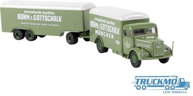 Brekina Modelle Böhm & Gottschalk MAN F8 Kofferzug 97221