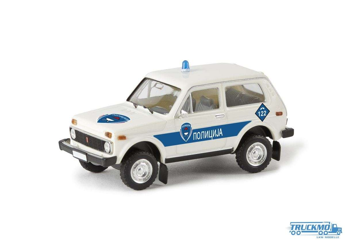 Brekina Polizei Bosnien Lada Niva 27226