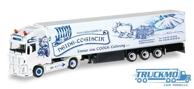 Herpa Heide Logistik Volvo FH GL XL Kühlkoffer-Sattelzug 307017