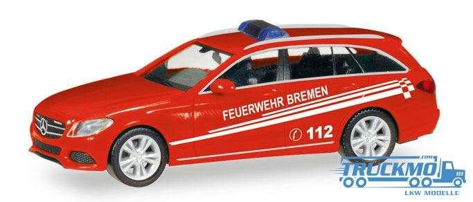 Herpa Feuerwehr Bremen Mercedes-Benz C-Class T-Modell 093583