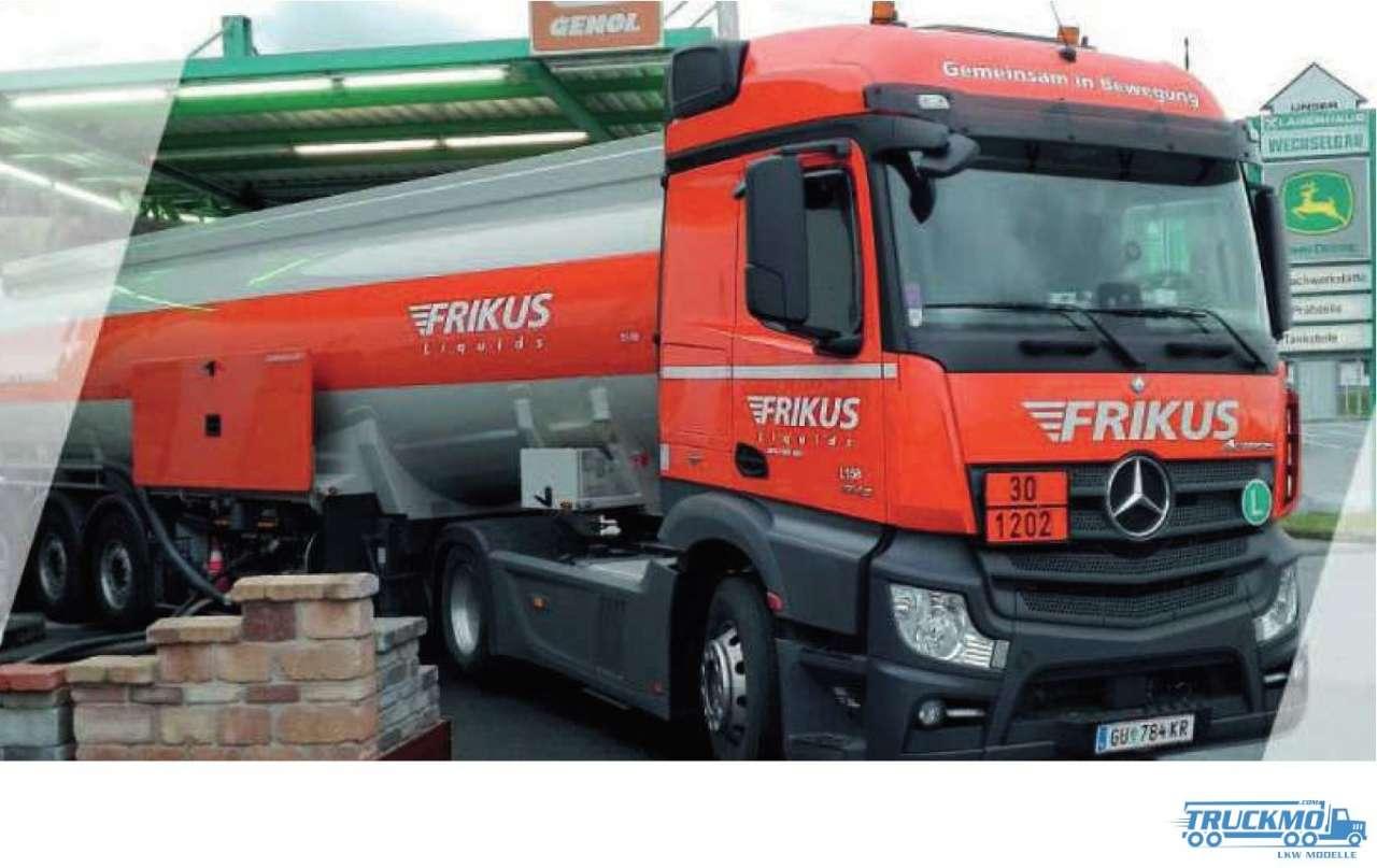 Herpa Frikus Mercedes Benz Actros Streamspace 2.3 Benzintank Sattelzug 939027