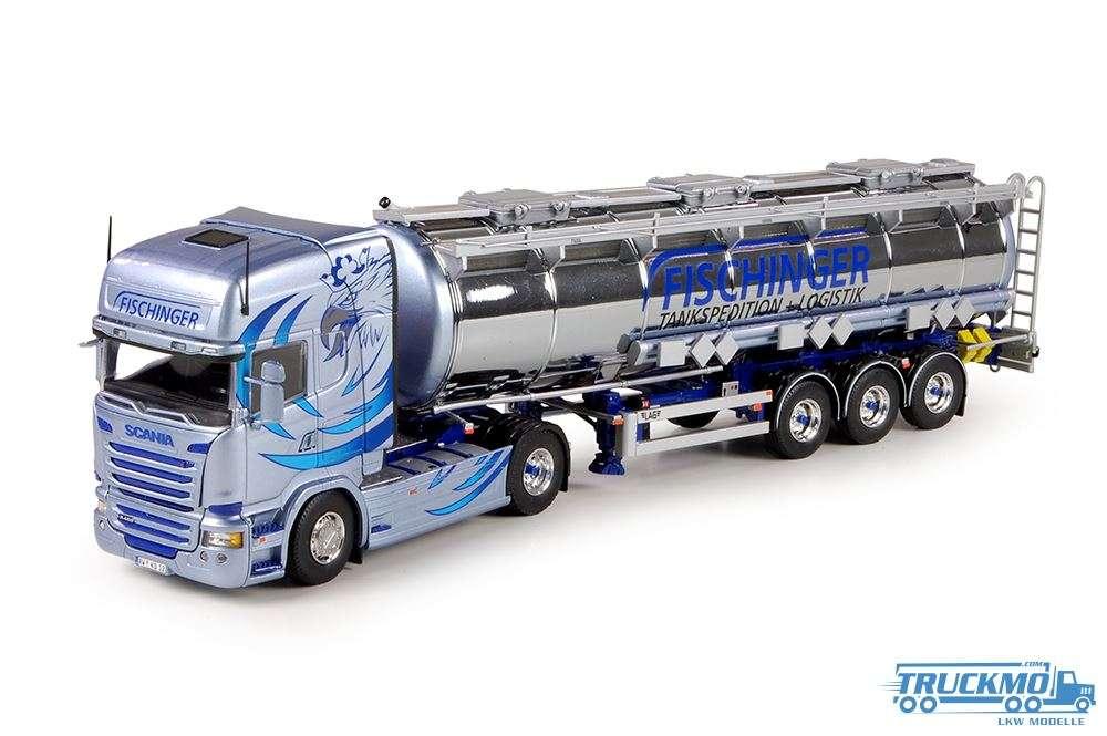 Tekno Fischinger LKW Modell Scania R TL Chromtank-Sattelzug 69956