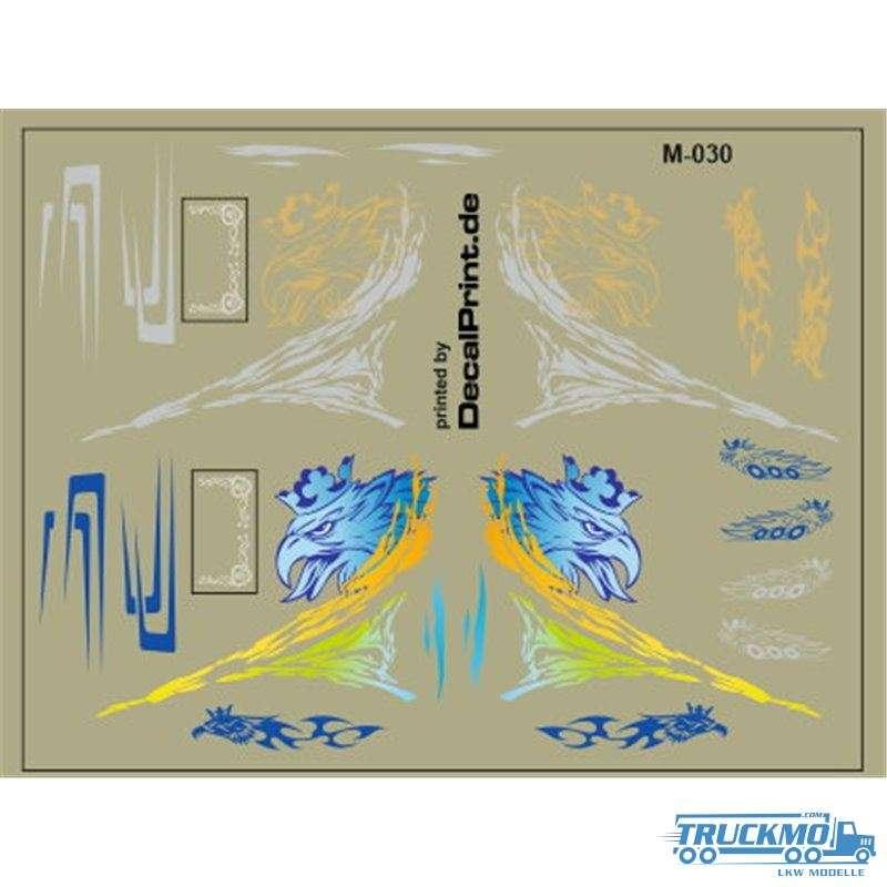 Decal Scania Greif Uni blau / gold 1:87 12M-030.0