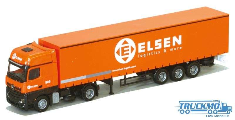 AWM Elsen Mercedes Benz Actros Gigaspace Planenauflieger 75103