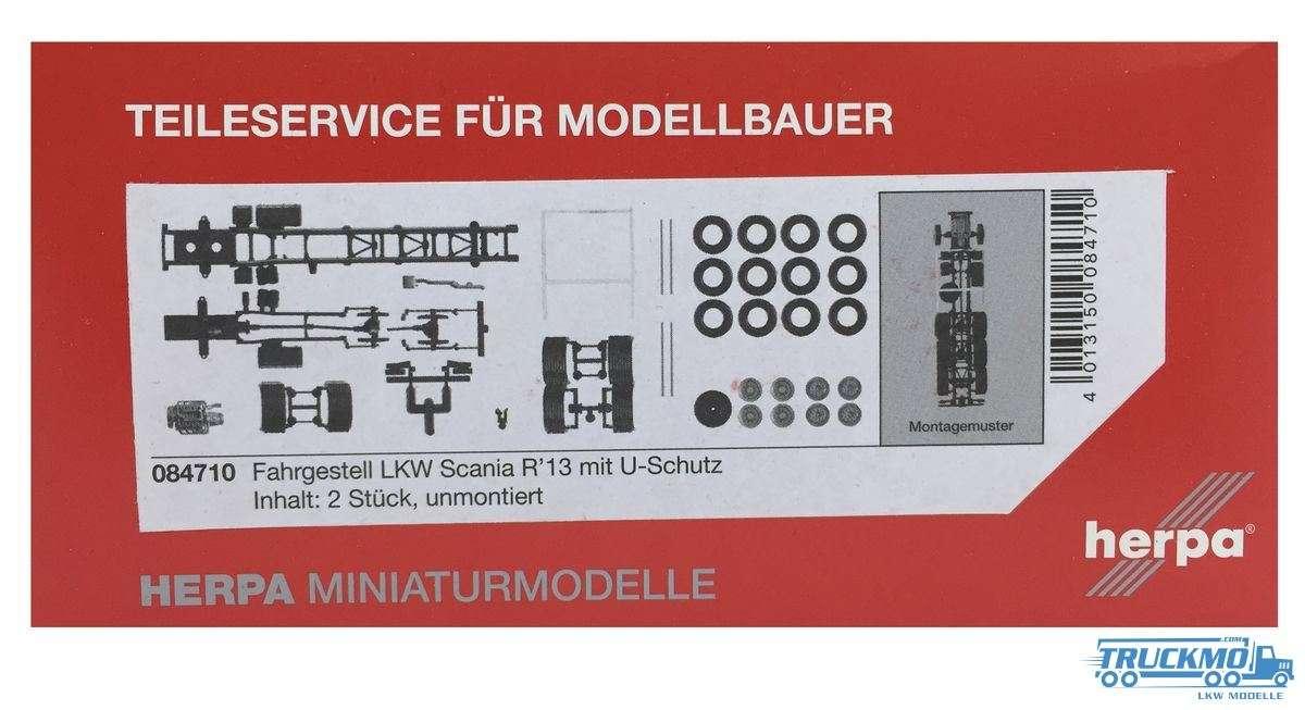 Herpa Fahrgestell Scania R 4-achs LKW mit U-Schutz (Inhalt: 2 Stück) 084710