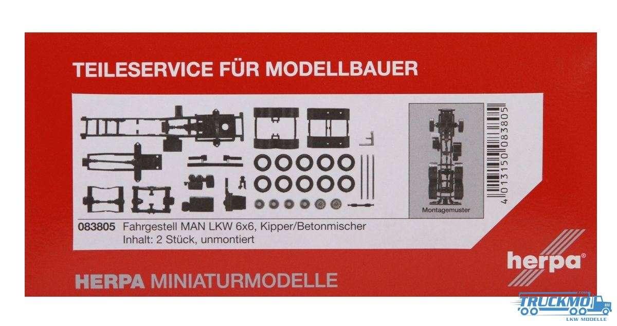 Herpa Fahrgestell MAN LKW Modell 6x6 Inhalt: 2 Stück